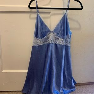 Blossom slip blue lace y2k tank